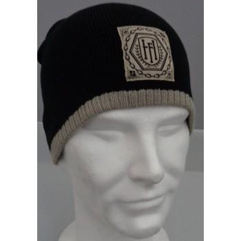 Hexa logo - Bonnet noir/ecru