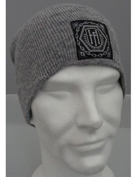 Hexa logo - Bonnet gris chiné