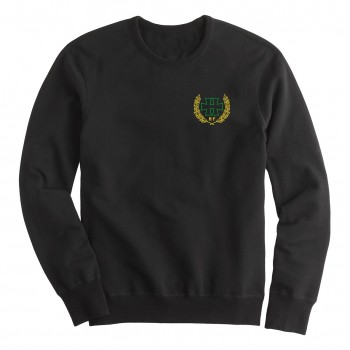 H crest Green - crewneck Sweater