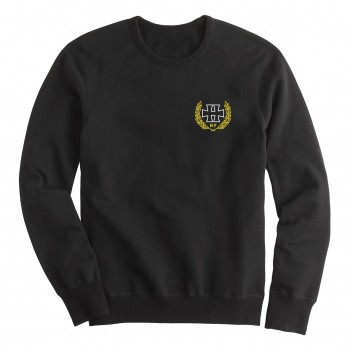 H crest white - crewneck sweater