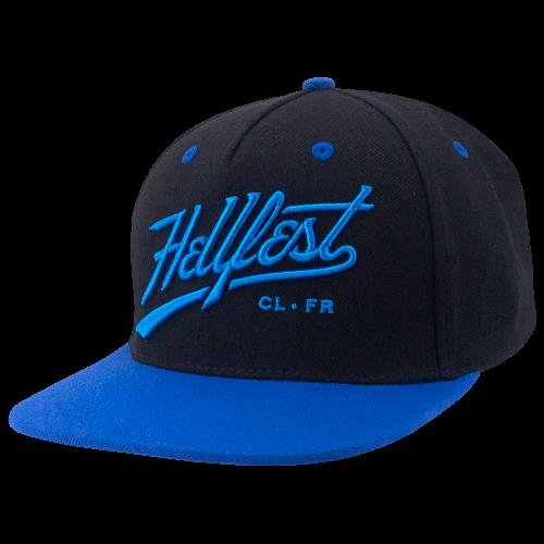 Casquette Baseball - Black & blue Snapback