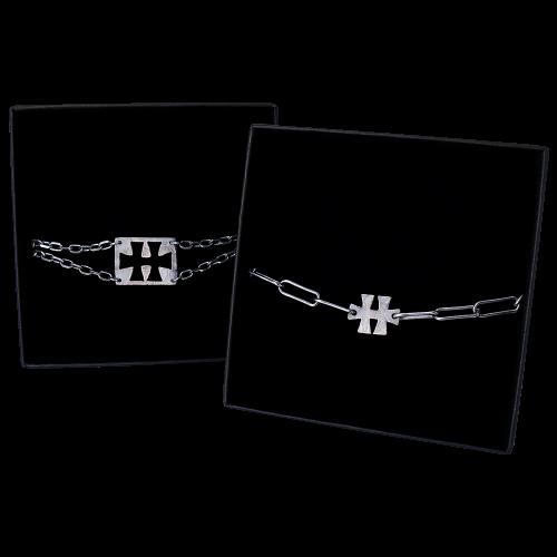 """Bracelets """"Black Silver"""" - Duo"""