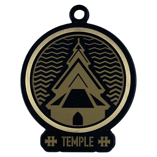 """Bronze Medal """"Temple"""""""