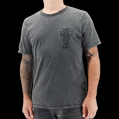 """Tee Shirt délavé Homme """"Black co"""""""